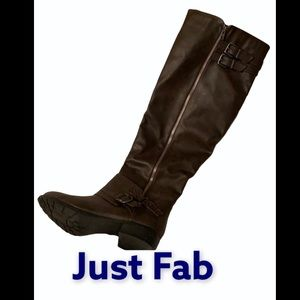 Brown Just Fab Above the Knee Boots